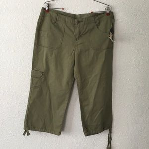 NWT Lucky Brand Olive Green Cargo Capris